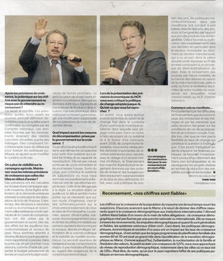 Les ECO : Interview avec M. le Haut Commissaire au Plan