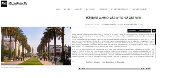 Recensement au Maroc: Quels moyens pour quels enjeux?