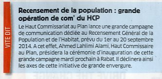 Recensement de la population: grande opération de com' du HCP