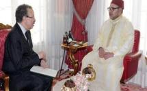 SM le Roi reçoit Ahmed Lahlimi