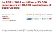 Le RGPH 2014 mobilisera 53.000 recenseurs et 20.000 contrôleurs et superviseurs